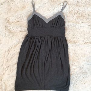 Gray Jersey Tulip Dress